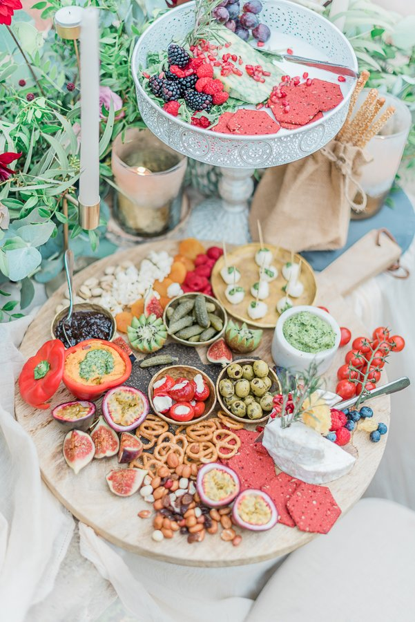 2019 wedding trend | luxe platter and grazing table by Graze and Gorge - Photo by Cristina Ilao Photography