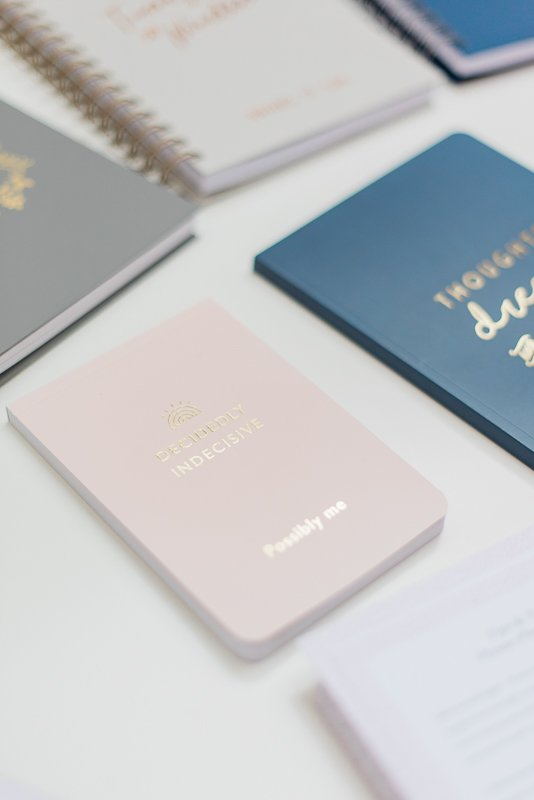 pink notepad, whatever stationery collection for Martha Brook London - Photo by Cristina Ilao Photography