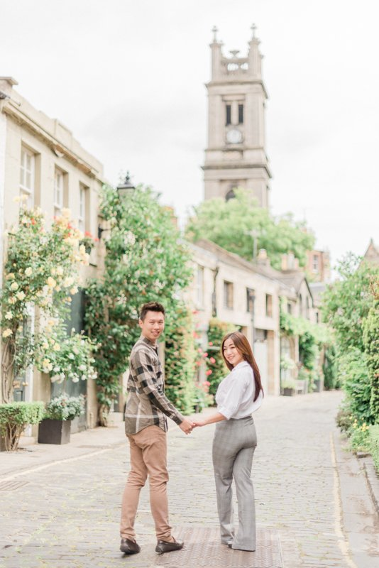 Lifestyle session at Circus Lane, one of the prettiest and most instagrammable streets in Edinburgh especially during the spring season. Photo by fine art destination wedding and lifestyle photographer Cristina Ilao of Cristina Ilao Photography. See more at www.cristinailao.com. Tags: Edinburgh wedding photographer, UK destination wedding photographer, Circus Lane Edinburgh, best photo spots in Edinburgh, fine art weddings, Edinburgh elopement, pre-wedding, post-wedding lifestyle session, lifestyle photographer, UK lifestyle blogger