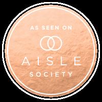 as seen on aisle society badge