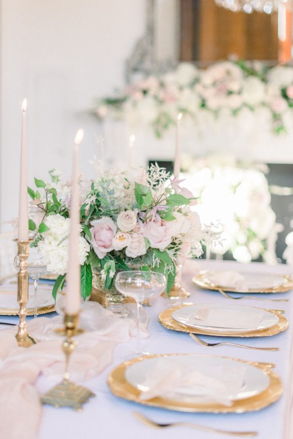 elegant blush pink European style and French fairytale wedding inspiration at Thicket Priory. Creative Team: Venue: Thicket Priory Photography: Cristina Ilao Photography Stationery: Katie Sue Design Co Cake & desserts: Sadie May Cakes Styling & floristry: Flori and Fern Make-up: Amanda Bell Hairstyling: Vicky Medhurst of Contemporary Yarm Dress: Christian Alexander Bridal Suit: Bakers Tailoring Accessories: What Katy Did Next
