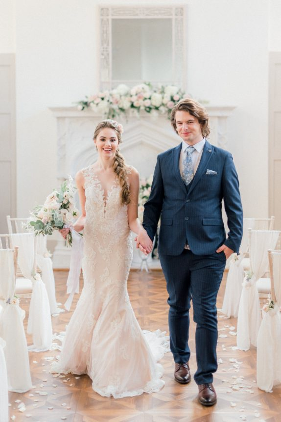 Fine art light and airy wedding inspiration at the Thicket Priory wedding venue in North Yorkshire. Photo by Cristina Ilao Photography