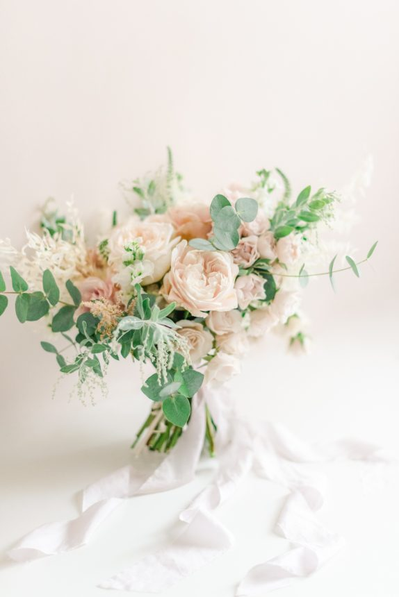 Beautiful blush pink roses fairytale wedding bouquet by Flori and Fern Photo by Cristina Ilao Photography.