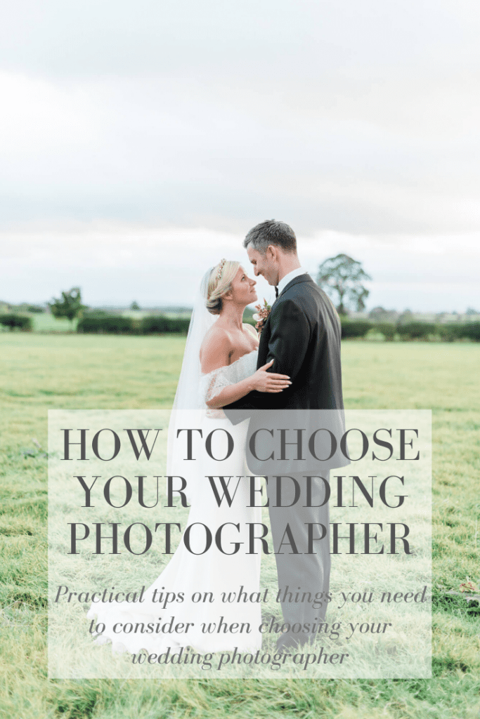Practical tips on how to choose your wedding photographer. In Photo: bride and groom facing each other in Yorkshire countryside. bride wearing a Cherry Williams off-shoulder mermaid style wedding dress and groom wearing a black tuxedo. Shot at Holme flower farm by fine art destination wedding photographer Cristina Ilao | www.cristinailao.com