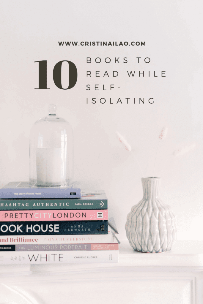 candle hurricane holder on top of books: Hashtag Authentic, Pretty City London, Cook House, Brand Brilliance and Luminous Portrait