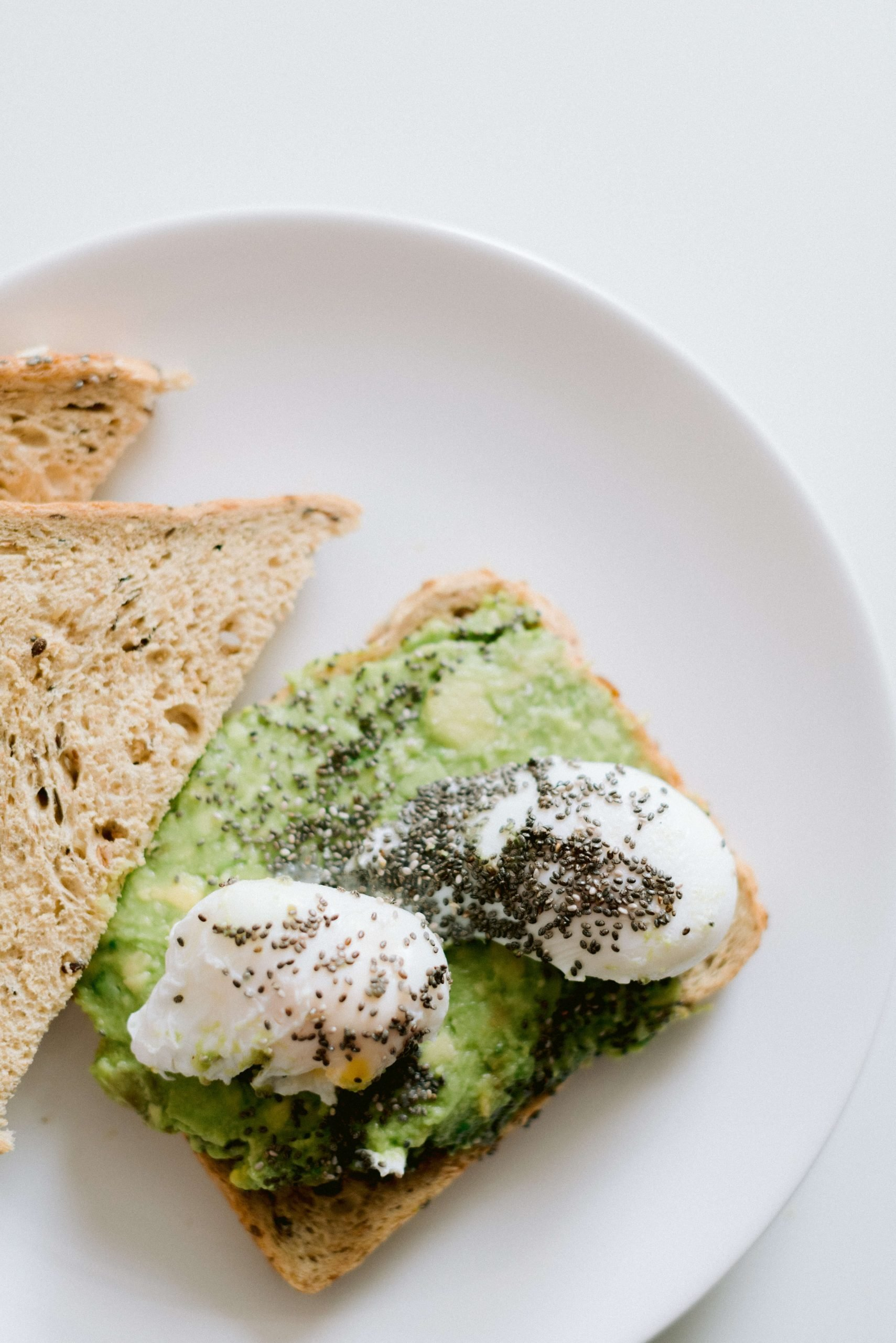 Wedding Planning Well-Being Tips | In Photo: two poached eggs with poppy seeds on toast with mashed avocado - Photo by Cristina Ilao www.cristinailao.com