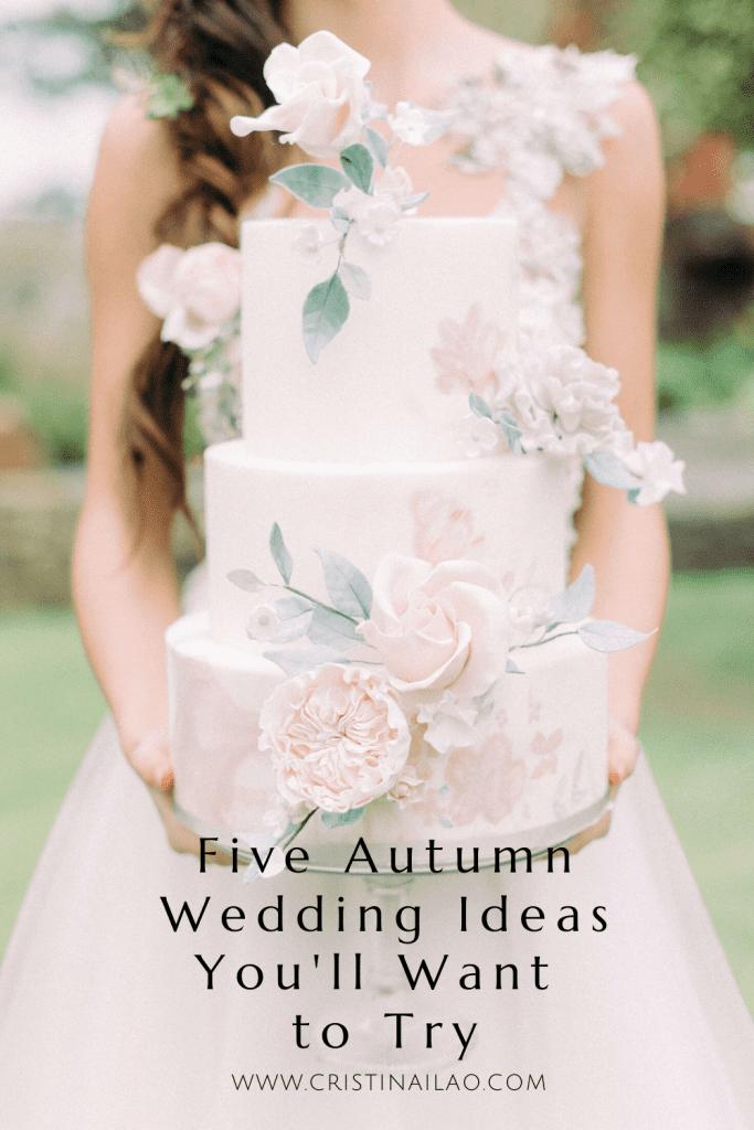 three tier findant wedding cake with pink sugar flowers
