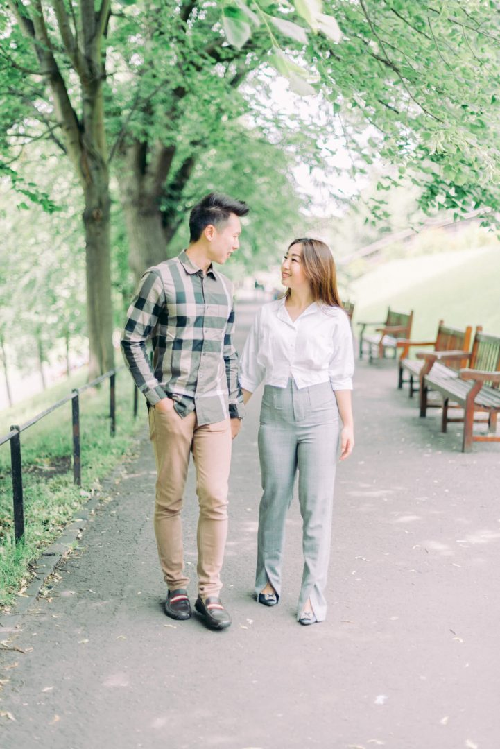 Edinburgh Royal Mile - Princes Street Garden engagement shoot