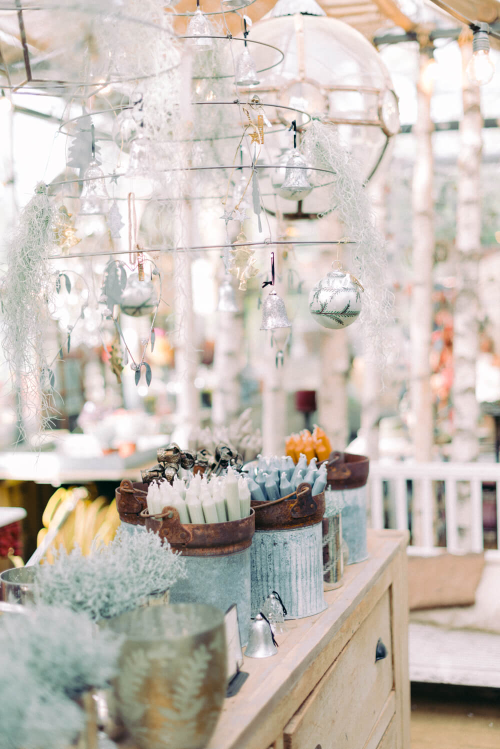 trinkets, tapered candles and Christmas decors at the Petersham Nurseries in Richmond - Photo by Cristina Ilao