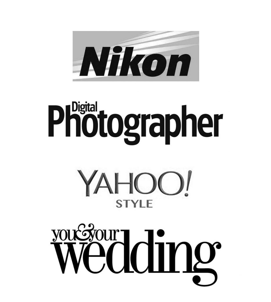Logos of Nikon Digital Photographer Yahoo Style UK You & Your Wedding