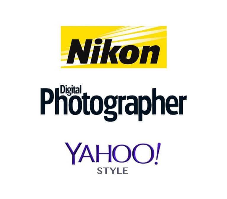 Nikon logo, yahoo style UK logo, Digital photographer logo
