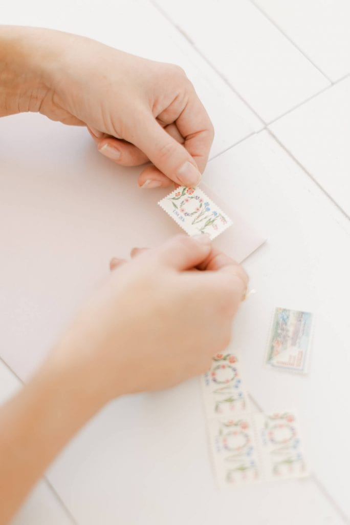 Fine Art Branding and Product Photography for Tabitha Kate Paper Stories. LOVE vintage stamp. Photo by Cristina Ilao Photography