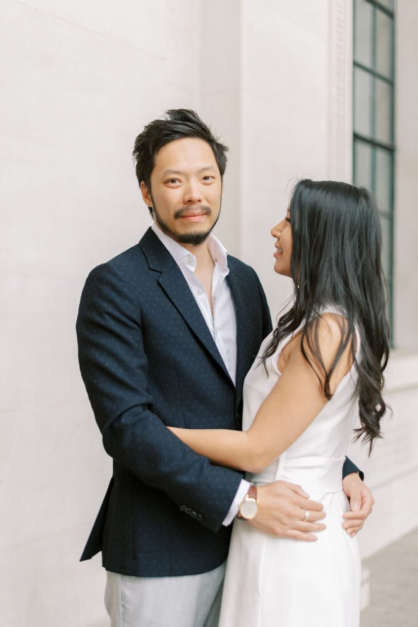 London Engagement Shoot in Kensington & Chelsea by Cristina Ilao Fine Art Wedding Photography   In Photo: couple photo session, fun relaxed posing ideas, Asian Chinese, engaged portraits,